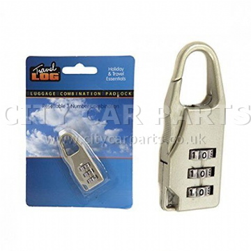SECURE 3 DIGIT COMBINATION SECURE LUGGAGE PADLOCK TRAVEL RUCKSACK FLIGHT BAG CODE LOCK